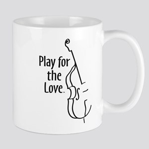 PLAY FOR THE LOVE BASS black Mugs