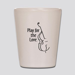 PLAY FOR THE LOVE BASS black Shot Glass