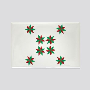 Christmas Stars Rectangle Magnet