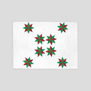 Christmas Stars 5'x7'Area Rug