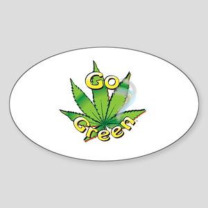 GO GREEN Sticker (Oval)