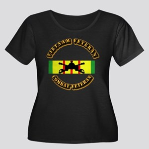 VN Vet - Women's Plus Size Scoop Neck Dark T-Shirt