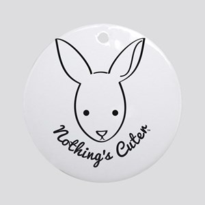 NOTHING'S CUTER RABBIT in black Ornament (Round)