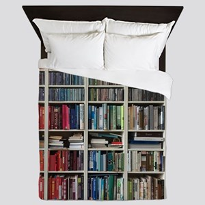 colorful library 2 Queen Duvet