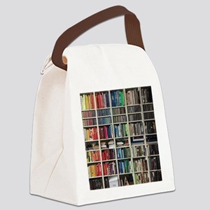 colorful library 2 Canvas Lunch Bag
