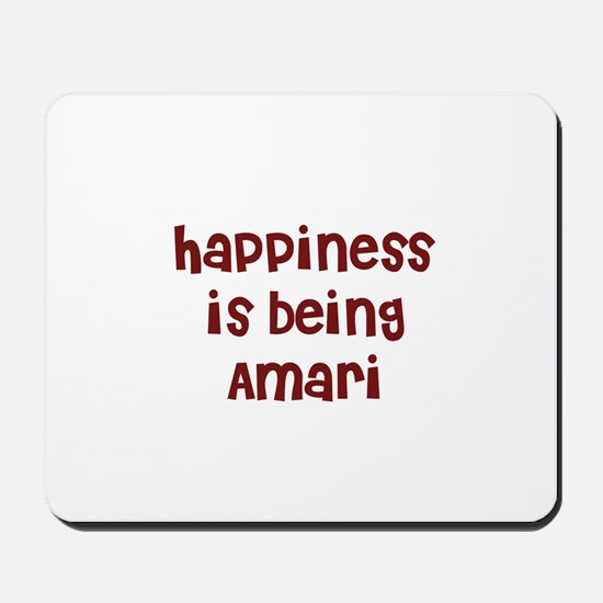 happiness is being Amari Mousepad