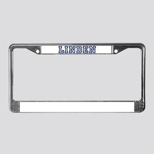 LINDEN University License Plate Frame