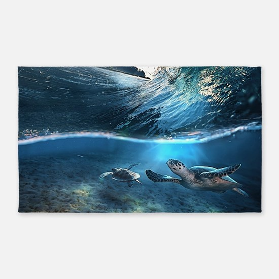 Sea Turtles 3'x5' Area Rug