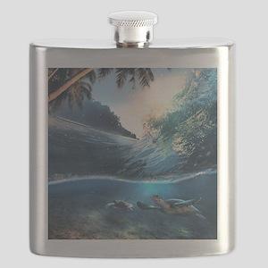 Sea Turtles Flask