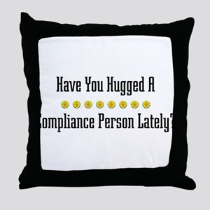 Hugged Compliance Person Throw Pillow