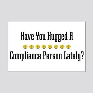Hugged Compliance Person Mini Poster Print