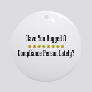Hugged Compliance Person Ornament (Round)