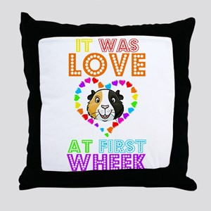 IT WAS LOVE AT FIRST WHEEK Throw Pillow