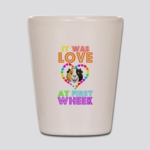 IT WAS LOVE AT FIRST WHEEK Shot Glass