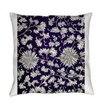Abstract Whimsical Flowers Everyday Pillow