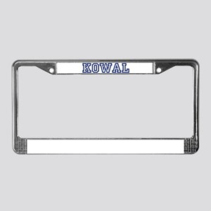 KOWAL University License Plate Frame