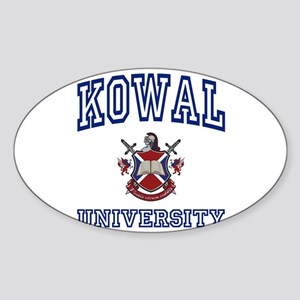 KOWAL University Oval Sticker