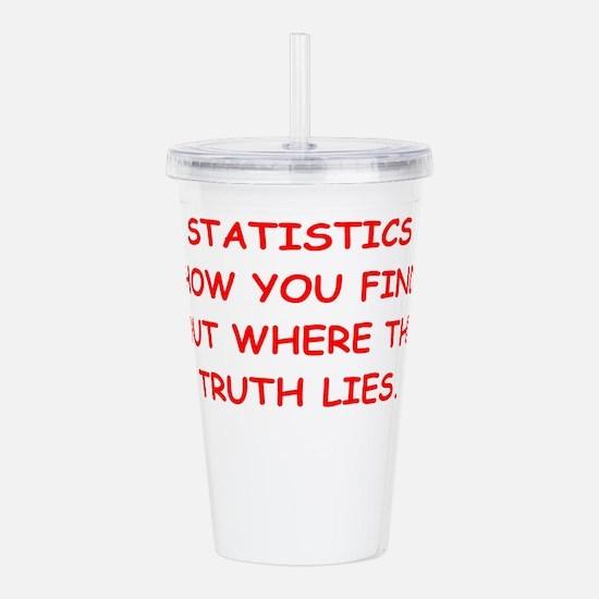 statistics Acrylic Double-wall Tumbler
