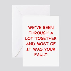 Anti valentines day greeting cards cafepress blame greeting card m4hsunfo