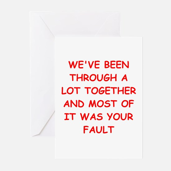 blame Greeting Cards (Pk of 10)