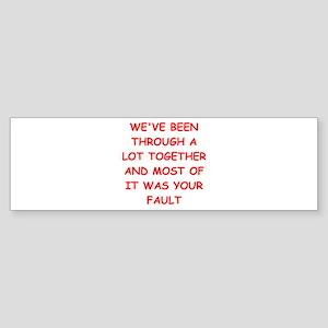 blame Sticker (Bumper)