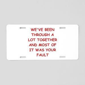 blame Aluminum License Plate