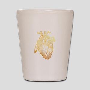 Anatomical Heart - Gold Shot Glass