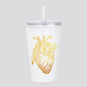 Anatomical Heart - Gol Acrylic Double-wall Tumbler