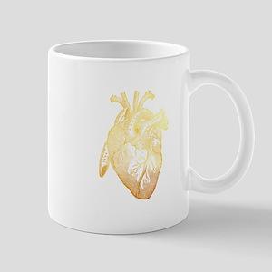 Anatomical Heart - Gold Mugs