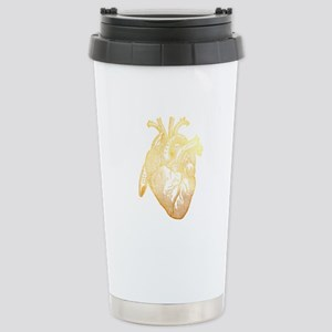 Anatomical Heart - Gold Stainless Steel Travel Mug