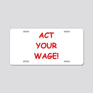 wage Aluminum License Plate