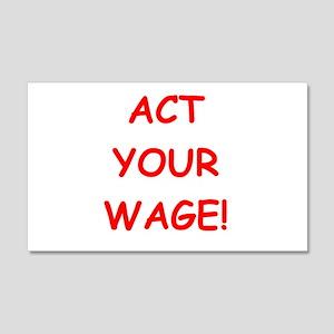 wage 20x12 Wall Decal
