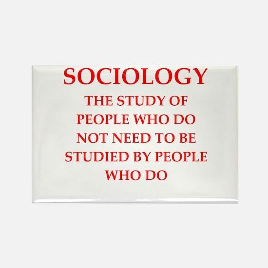 sociology Rectangle Magnet