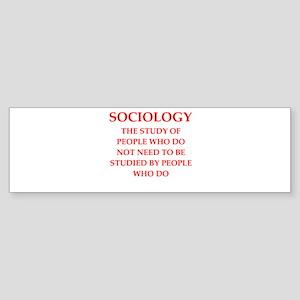 sociology Sticker (Bumper)