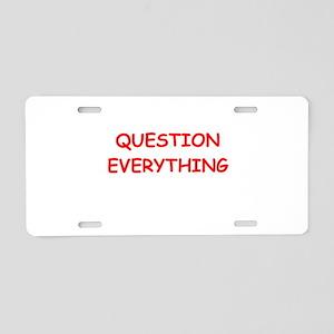 question Aluminum License Plate