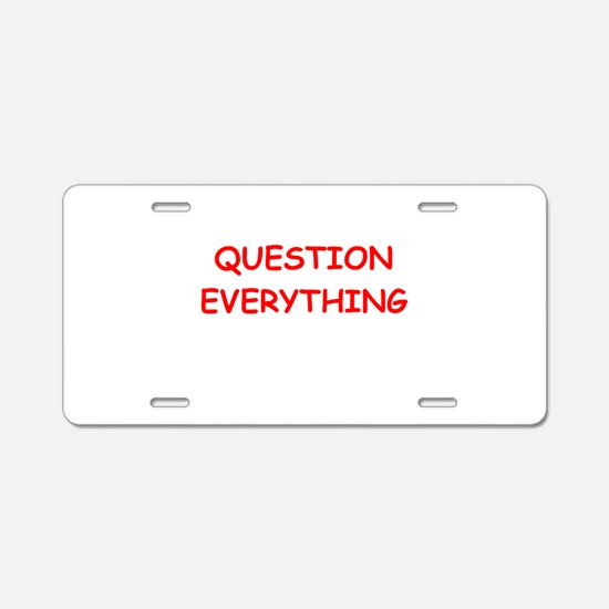 question Aluminum License Plate