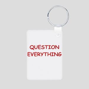 question Aluminum Photo Keychain