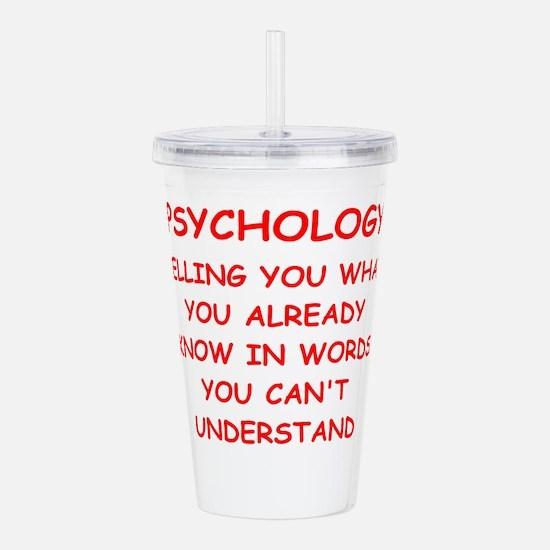 psychology Acrylic Double-wall Tumbler