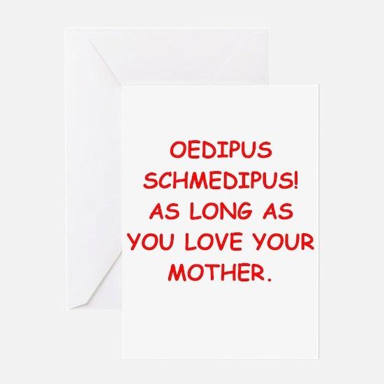 oedipus rex Greeting Card