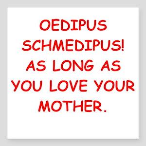 """oedipus rex Square Car Magnet 3"""" x 3"""""""