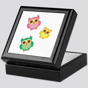 Colorful Owls Keepsake Box