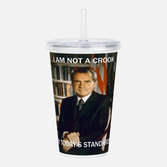 i am not a crook Acrylic Double-wall Tumbler
