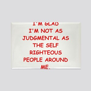 self righteous Rectangle Magnet
