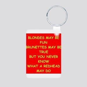 redhead Aluminum Photo Keychain