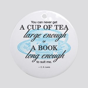 Tea Quote Ornament (round)