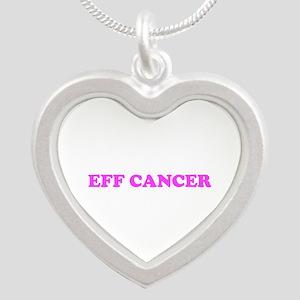 EFF CANCER (pink breast cancer awareness) Necklace