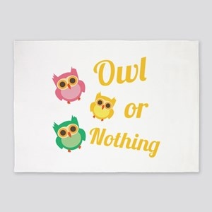 Owl or Nothing 5'x7'Area Rug