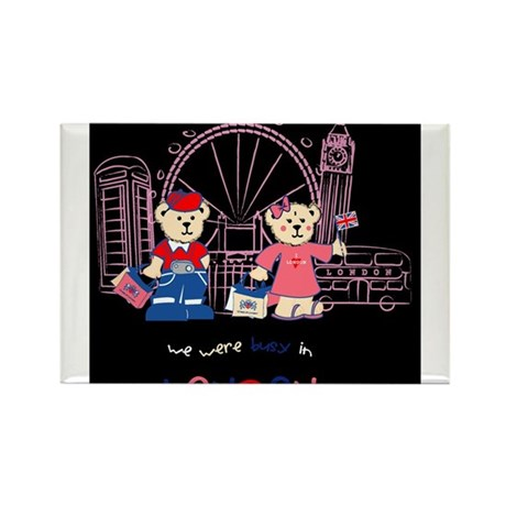 Busy in london Rectangle Magnet (100 pack)
