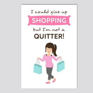 Funny Shopping Quote for Her Postcards (Package of
