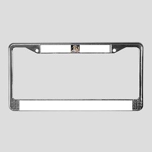 Bulldog London License Plate Frame